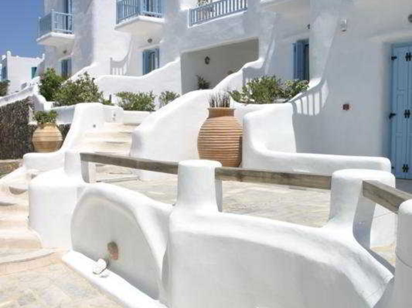 Outside Harmony Boutique Hotel Mykonos